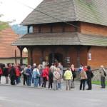 Setkání knihovníků - návštěva dřevěného kostelíku